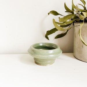 Handmade teal bowl